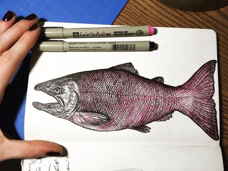art, drawing, micron, pen, nature - betsykevans   ello