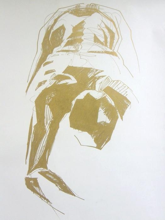 Figure drawing 2007 - Gold felt - kadriallekand | ello