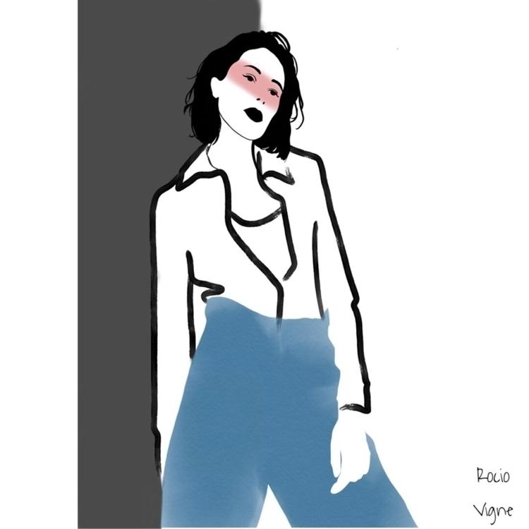 Fashion sketch Rocio Vigne - art - rociovigne | ello