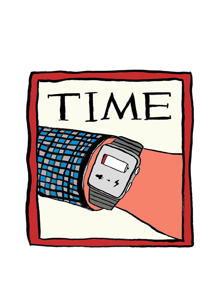 times change - illustration, timemagazine - anotherangelo | ello