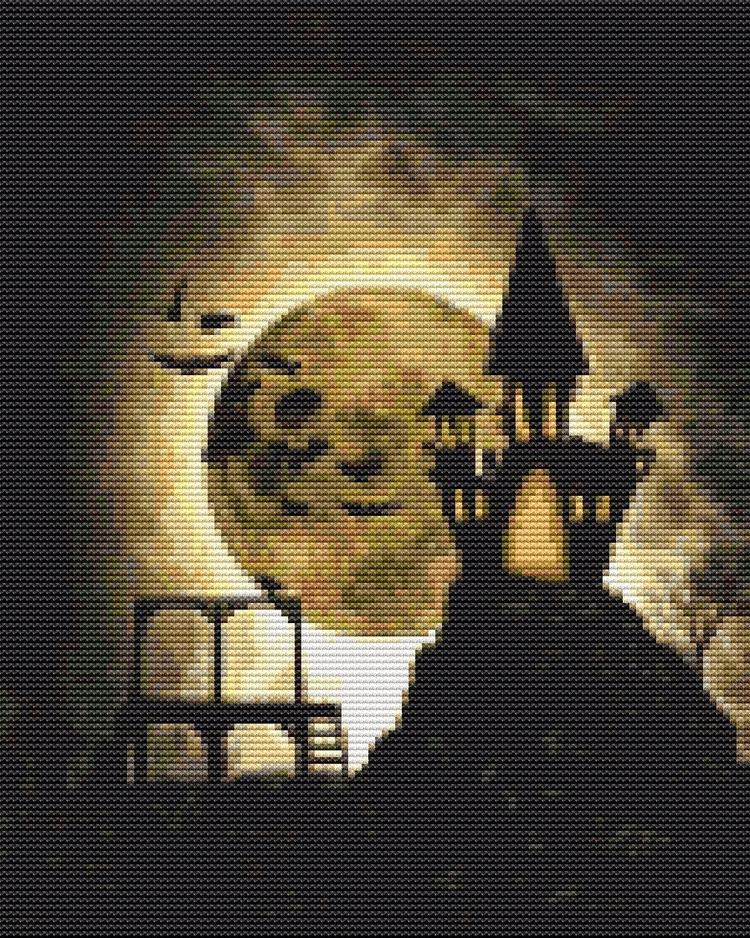 Halloween Night Cross Stitch Ki - theartofstitch   ello