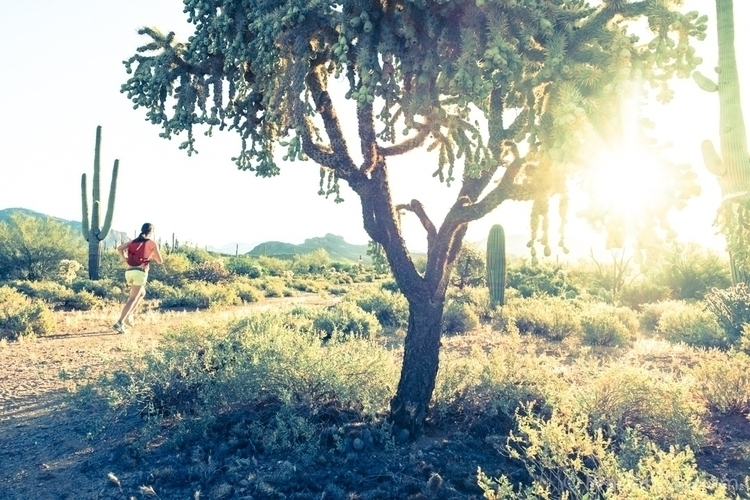 Desert sunrise - running, trailrunning - bradengunem | ello