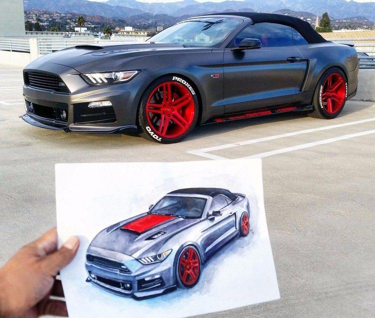 Order Car Paintings car art aut - rufinaartisr | ello