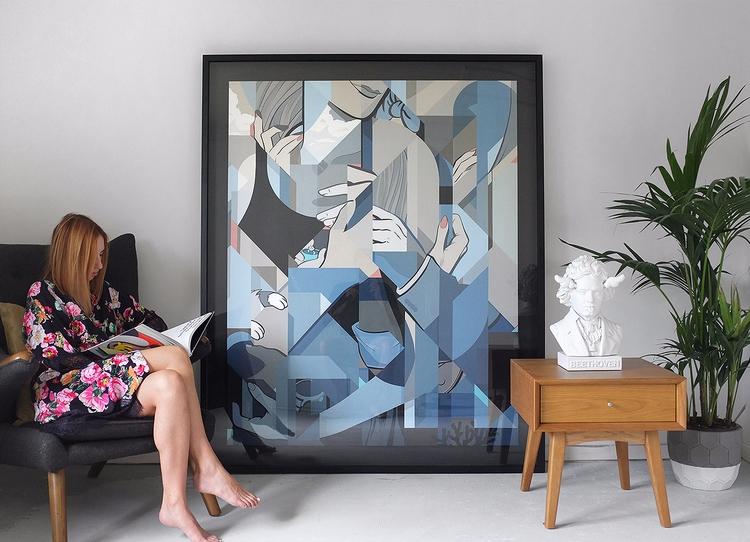 painting framed home. Brandon - pausedesigns   ello