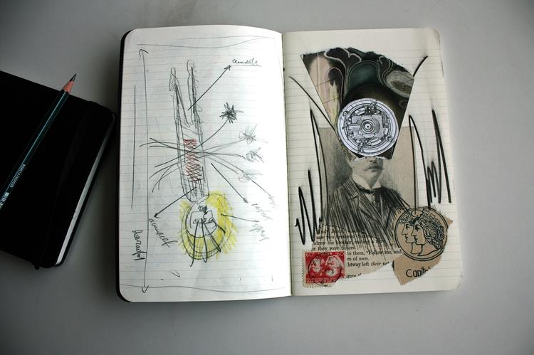 Moleskine Collage Alvaro Sánche - sanchezisdead | ello