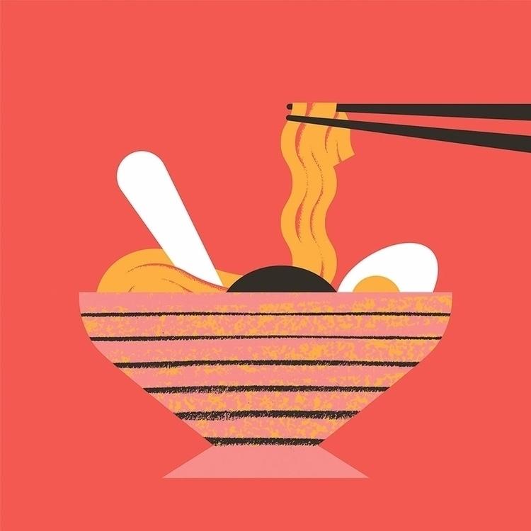 Ramen - illustration, artwork, food - alconic   ello