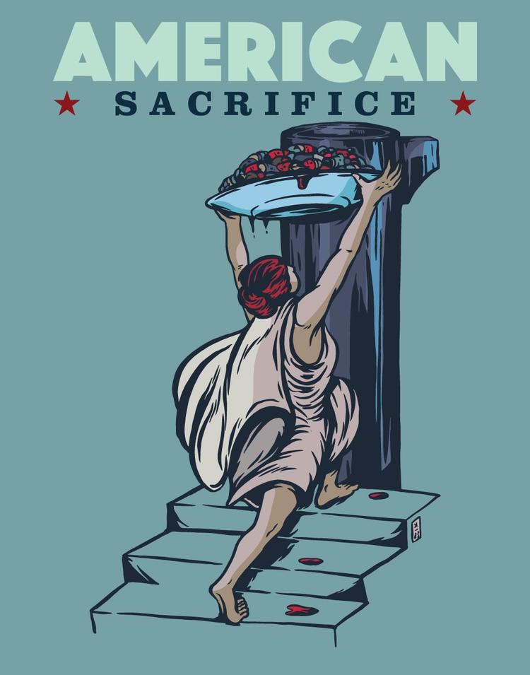 American Sacrifice - illustration - thomcat23 | ello