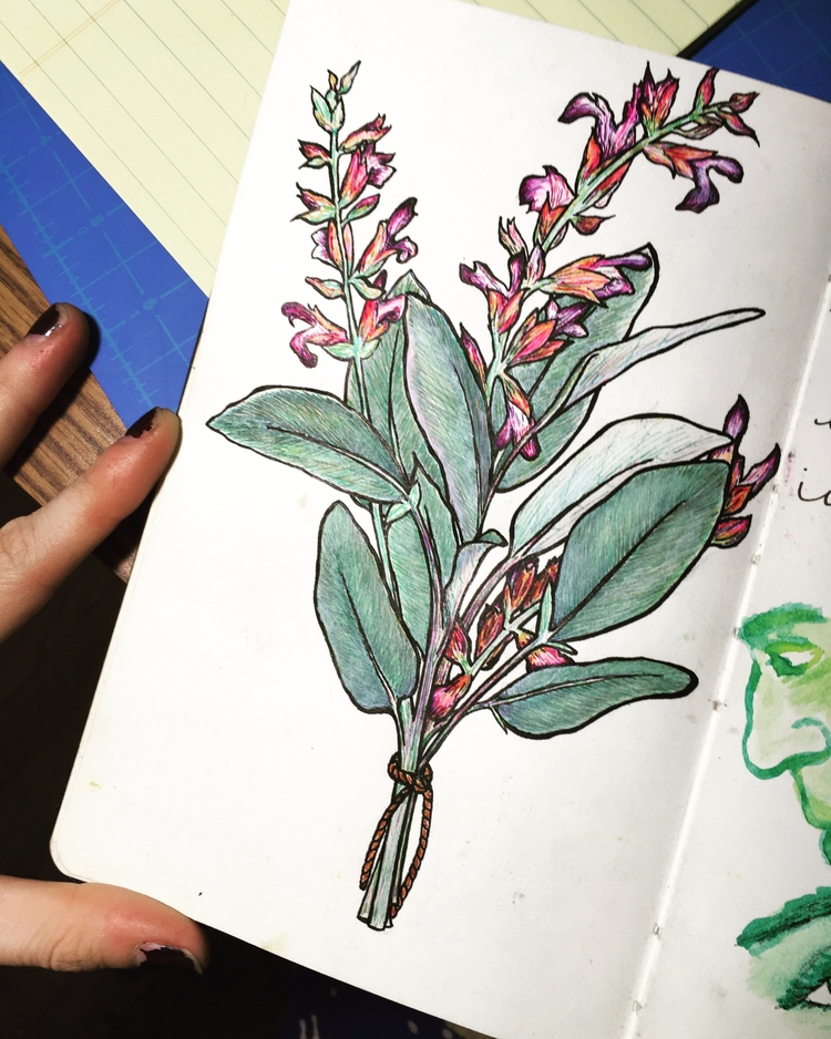 watercolor, ink, micronpen, mixedmedia - betsykevans | ello