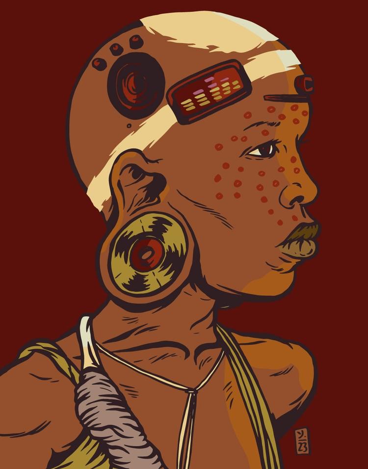Sound Warrior - illustration - thomcat23 | ello