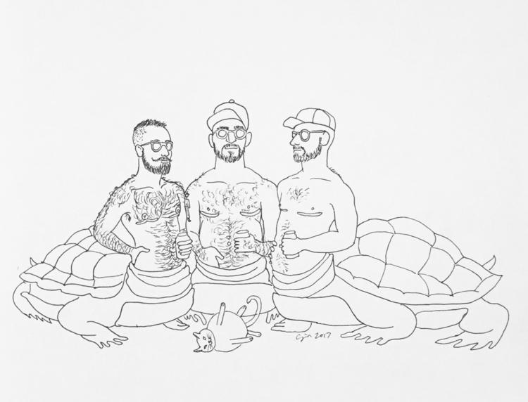 """Trans Turtle Time"", 2017, pigm - cupidojala | ello"