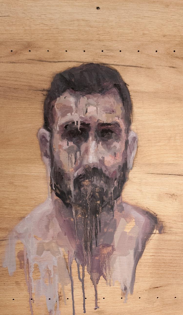 Approach Portrait) / Oil Wood 3 - armandocabba | ello