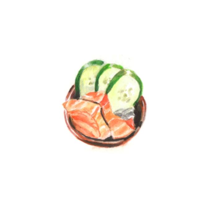 Sashimi art - sashimi, food, foodillustration - j0eyg1rl | ello