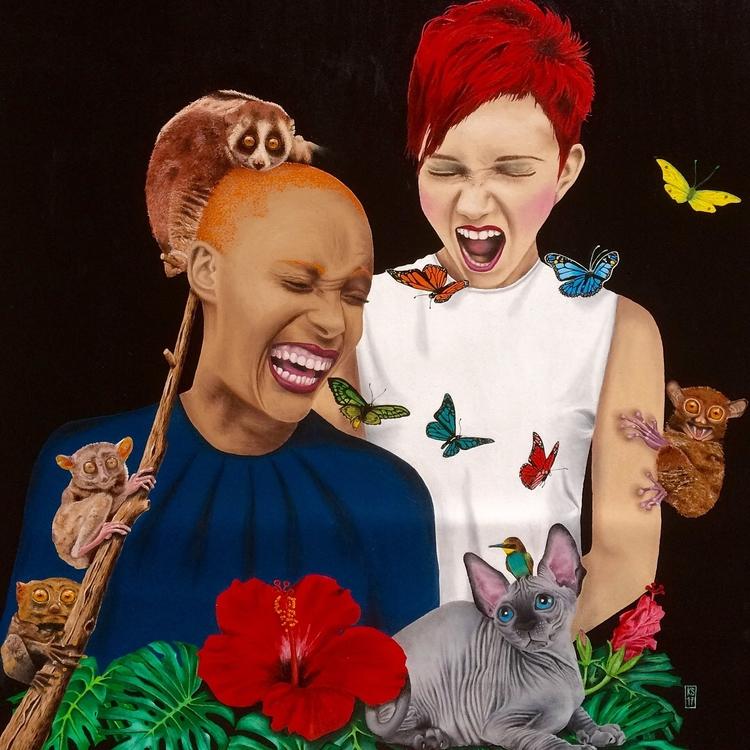 Laughter - Oil canvas, ca 65x55 - katja777 | ello