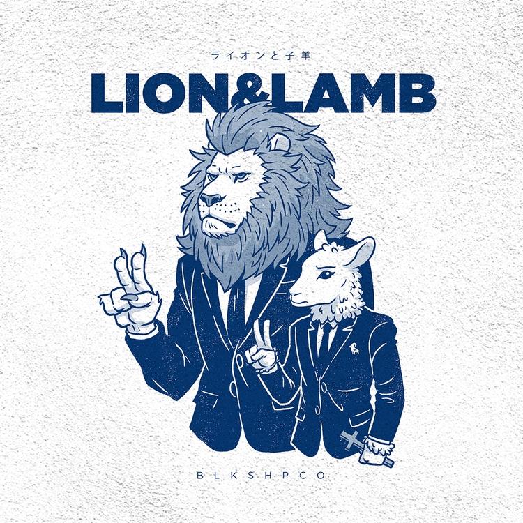 Lion Lamb Tee blkshpco.com - lion - byronelliott88 | ello