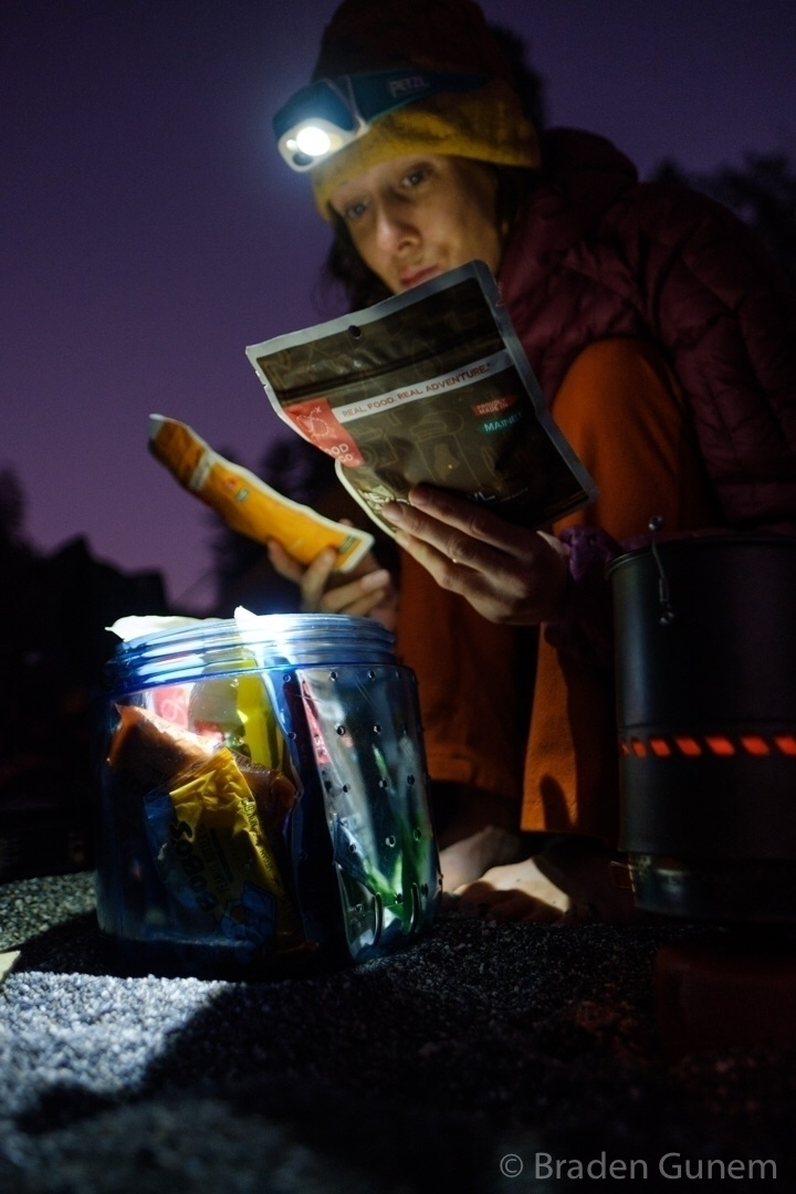 dinner - backpacking, fujifilm - bradengunem | ello