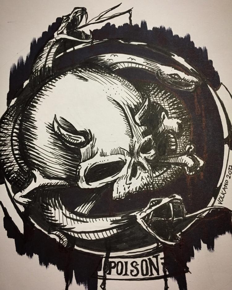 day late, 3: Poison illustratio - volkano | ello