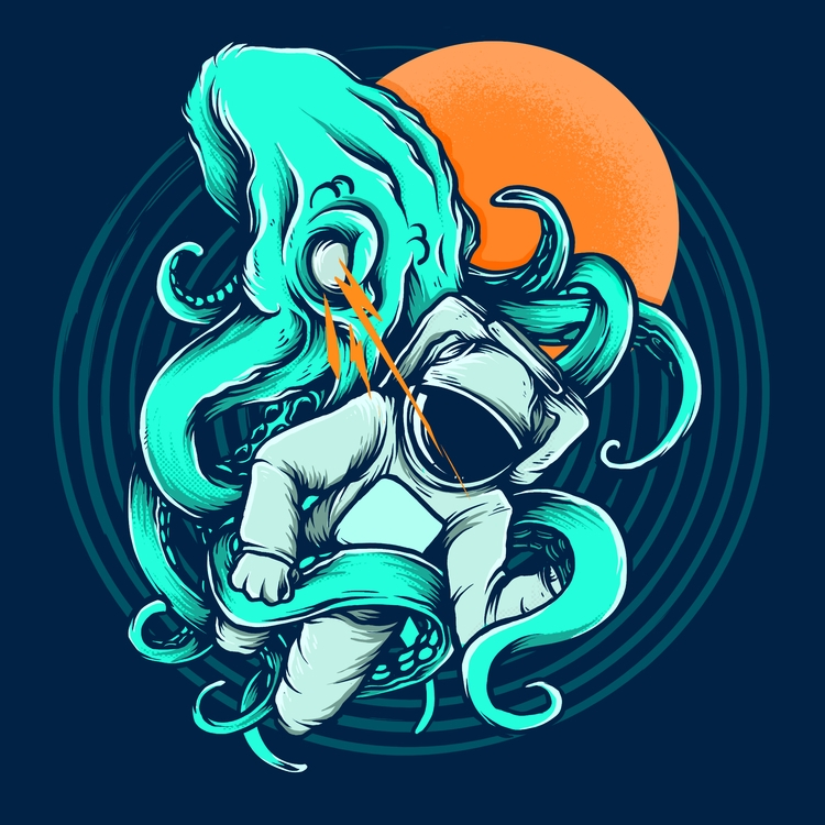 Astronaut - day5, inktober2017 - robinclarijs | ello