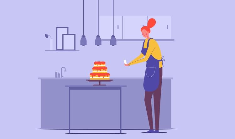 delicious cake social friends - Renderforest - renderforest | ello