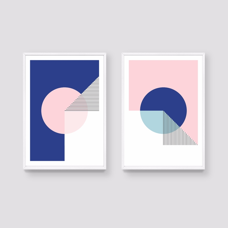 Set 2 prints Fold Collection - artprint - studioonto | ello