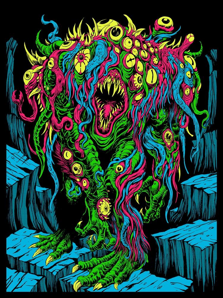 'Shambling Freak' artwork Elder - poposition | ello
