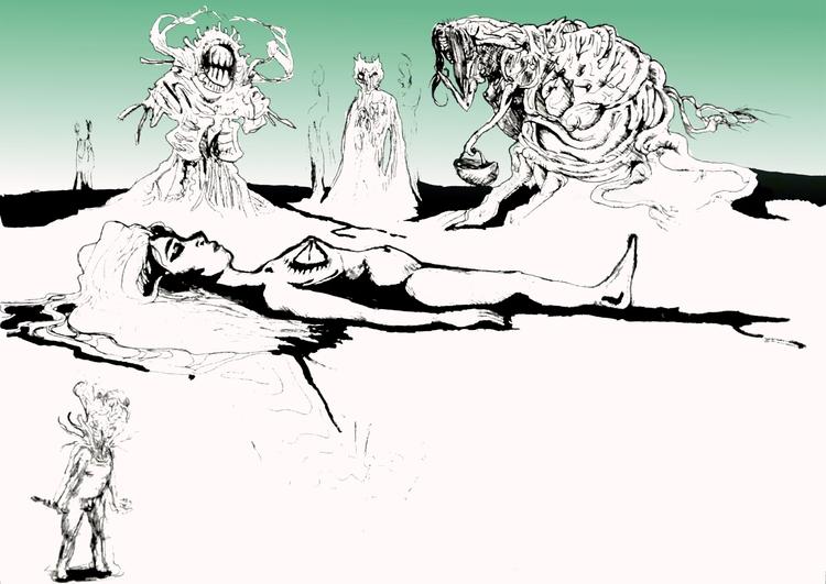 Sleep featuring Guardians - sketches - nikita_r   ello