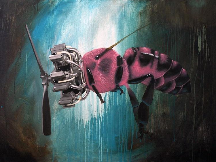 Pink Pollinator, 17x22 print - tbt - bowenstuff | ello