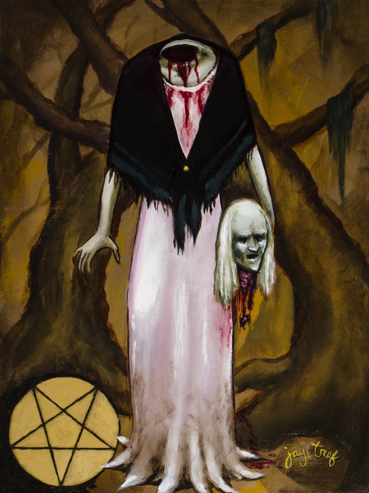 Swamp Witch, acrylic panel, 12  - jaytref | ello