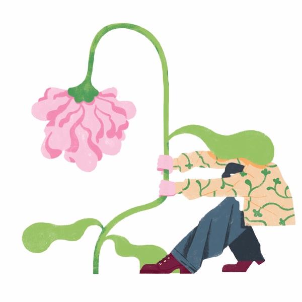 Flower - illustration, editorial - giulio_castagnaro | ello