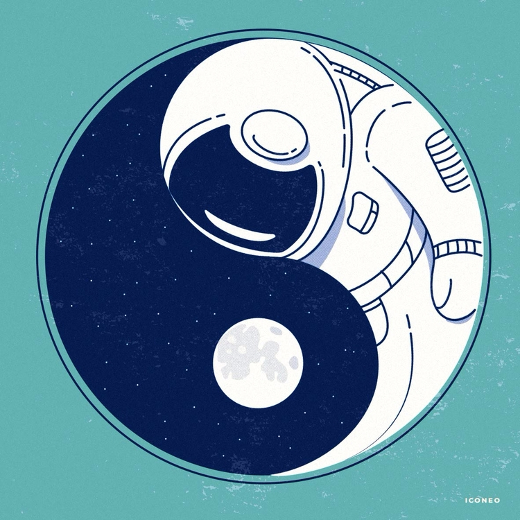Balance - moon, fullmoon, art, illustration - iconeo | ello