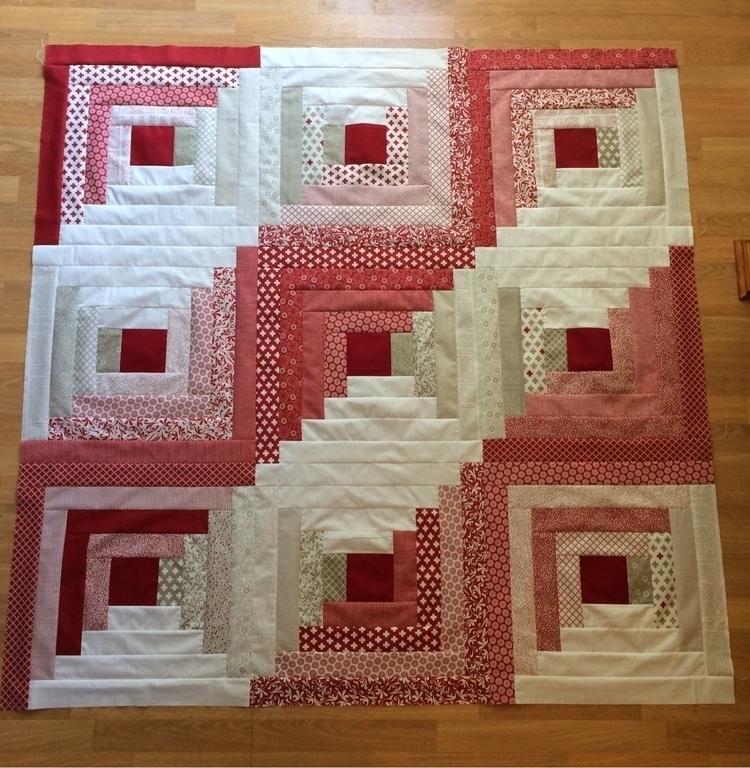 log cabin quilt top complete! P - mkkp_quilter | ello