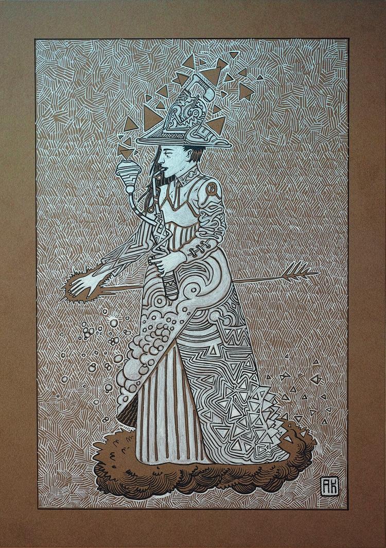 5 - Inktober, inktober2007, illustration - akenoomokoto | ello