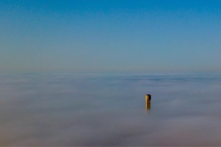 Fog minetower - drone, fog, outokumpu - jariturpeinen | ello