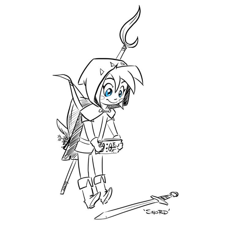 Day 6: Link sword! picture - link - likhoradka | ello