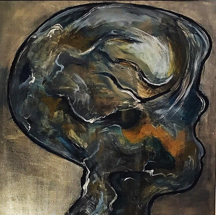 Abstract portrait acrylic paint - sameldino | ello