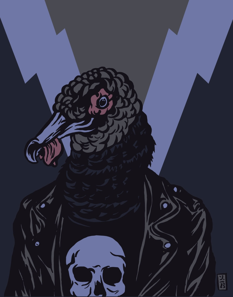 Black Vulture Punk - illustration - thomcat23 | ello