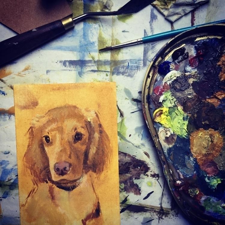 Woof woof. Beware dog portrait  - uberdada | ello