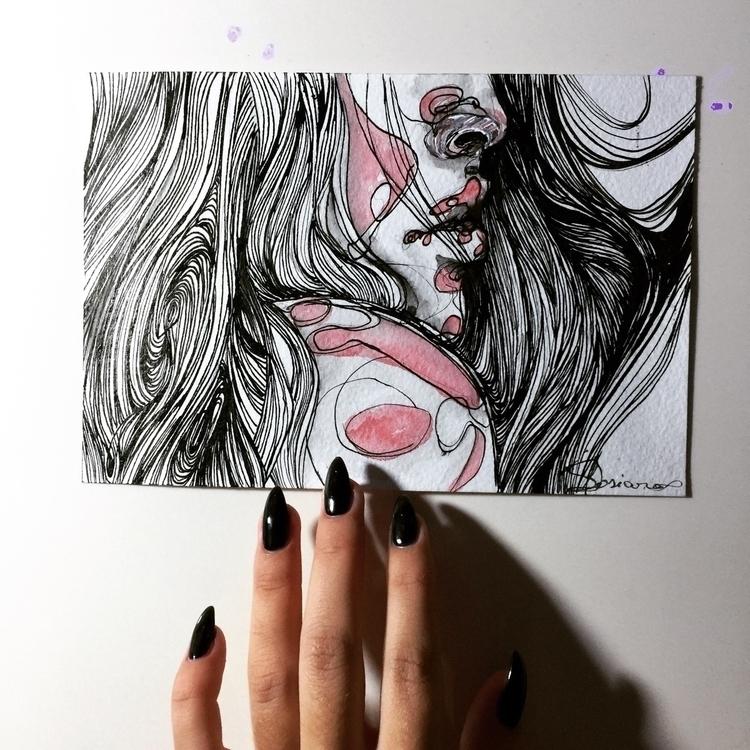 Day 6 ••••#fashionillustration - ibreathart | ello