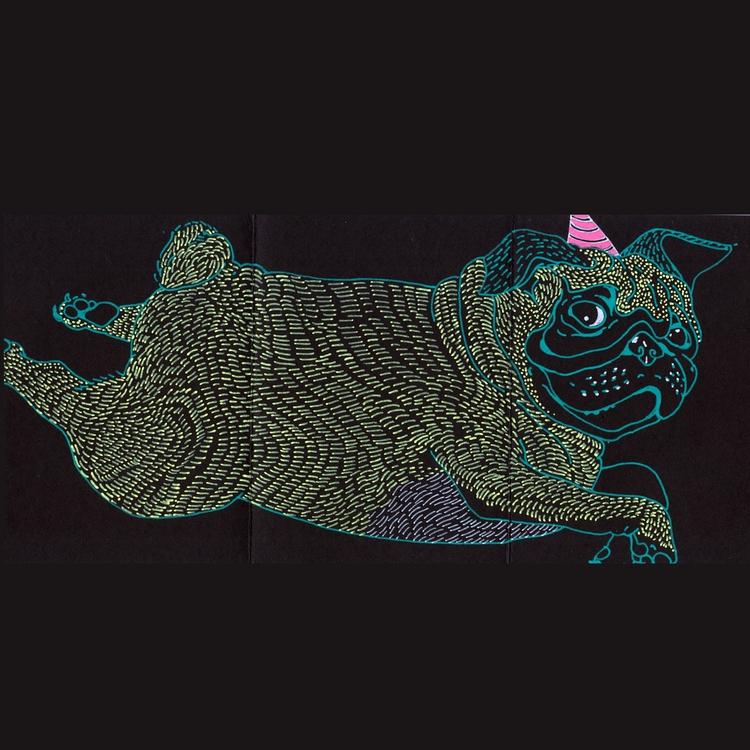 Pugs Fly - handmade, snailmail, birthday - rymie | ello