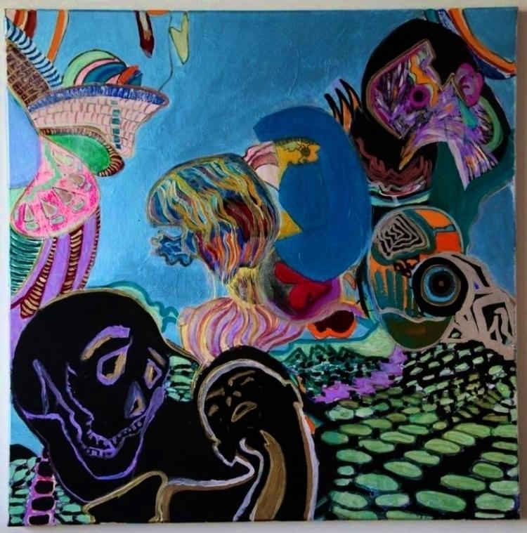 Acrylic paint canvas - sameldino | ello
