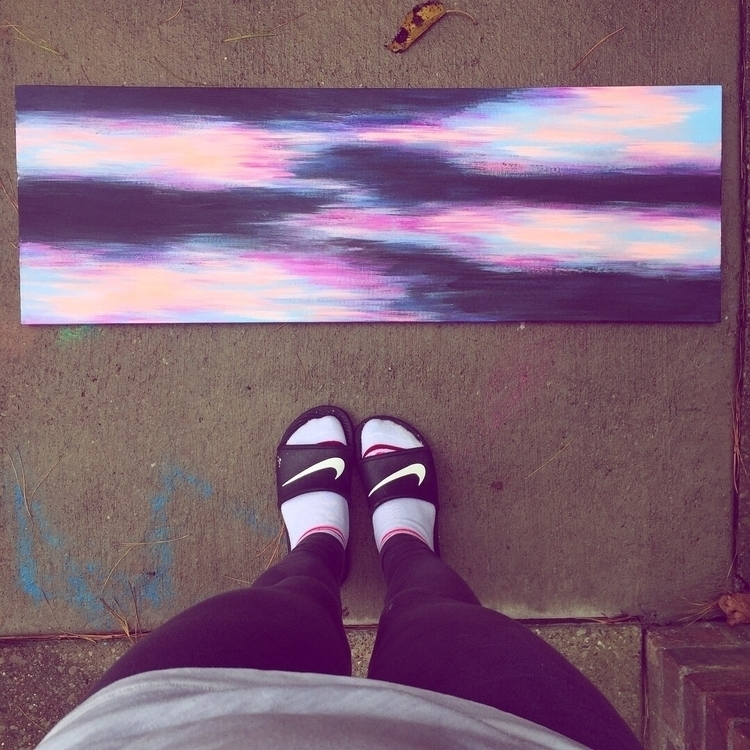 • :wind_face::sparkles:🦋 12x36  - artbykaylabraden   ello