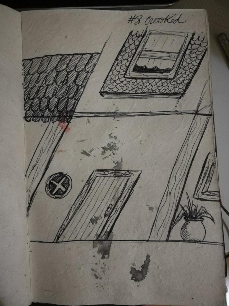 year, sketch crooked - inktober - gabscleto   ello