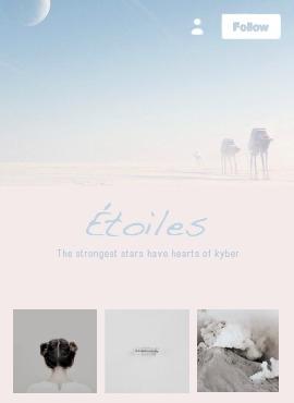 Tumblr Mobile Design | Étoiles - obscurial | ello