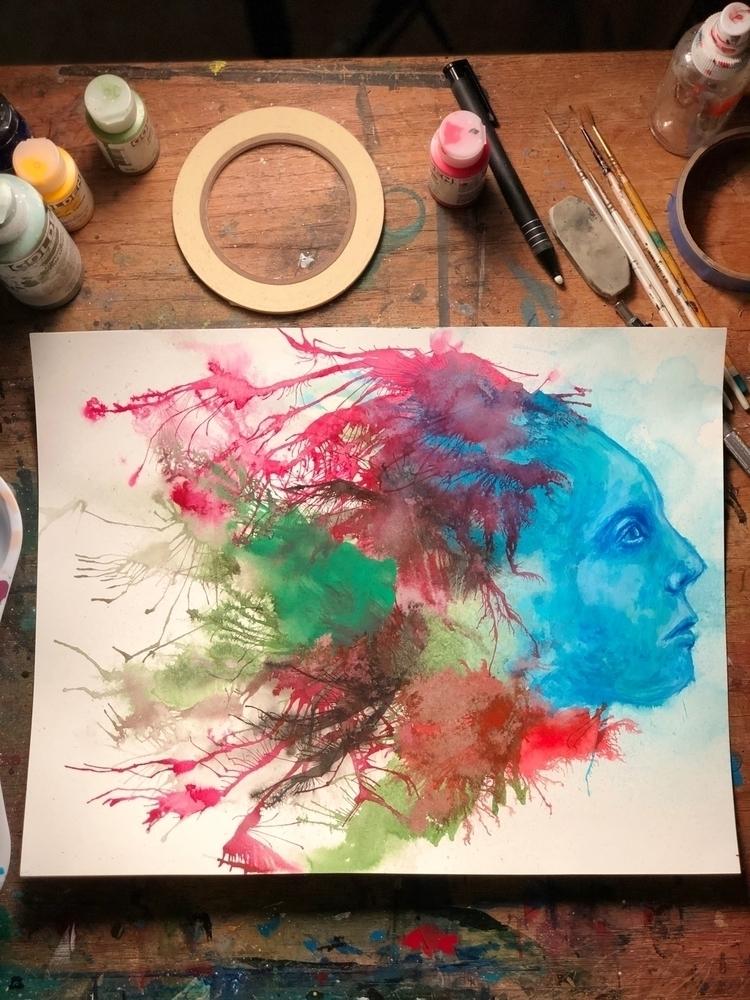 warmup, painting, sunday, night - nathanawoodart   ello