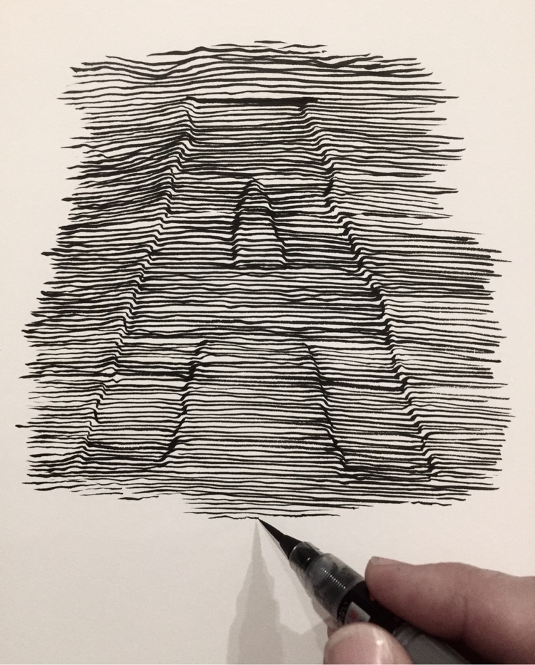 Inktober. alphabet.  - art, artist - brianjohnsonart | ello