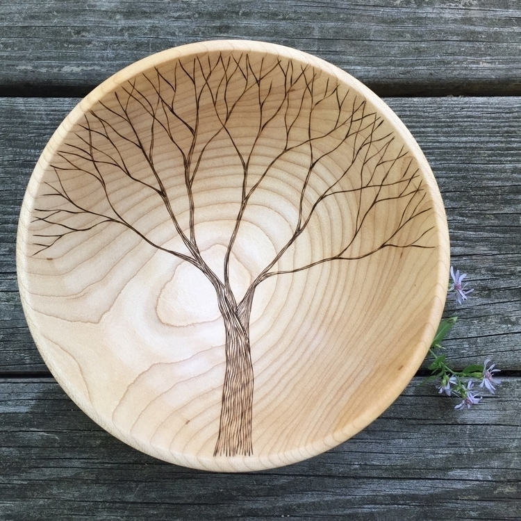 woodart, woodturnedbowl, naturebowl - forageworkshop | ello