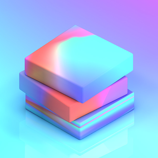 colours, blocks, 3d - rosieroche | ello