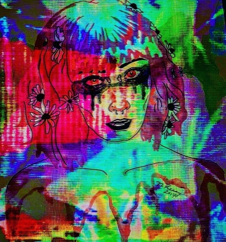 piece love!  - glitchart, glitch - brainhurt | ello