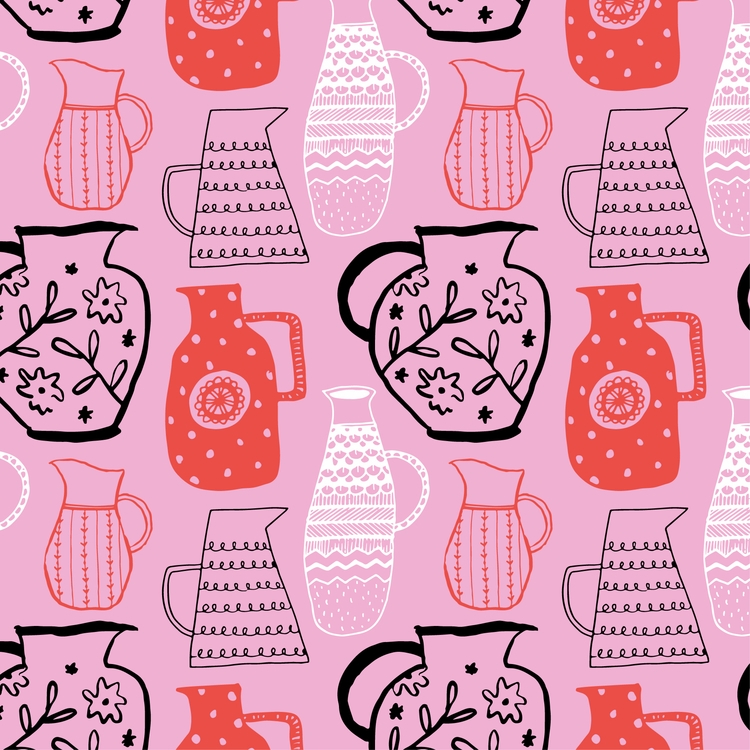 Pitcher pattern - surfacedesign - pirichi | ello