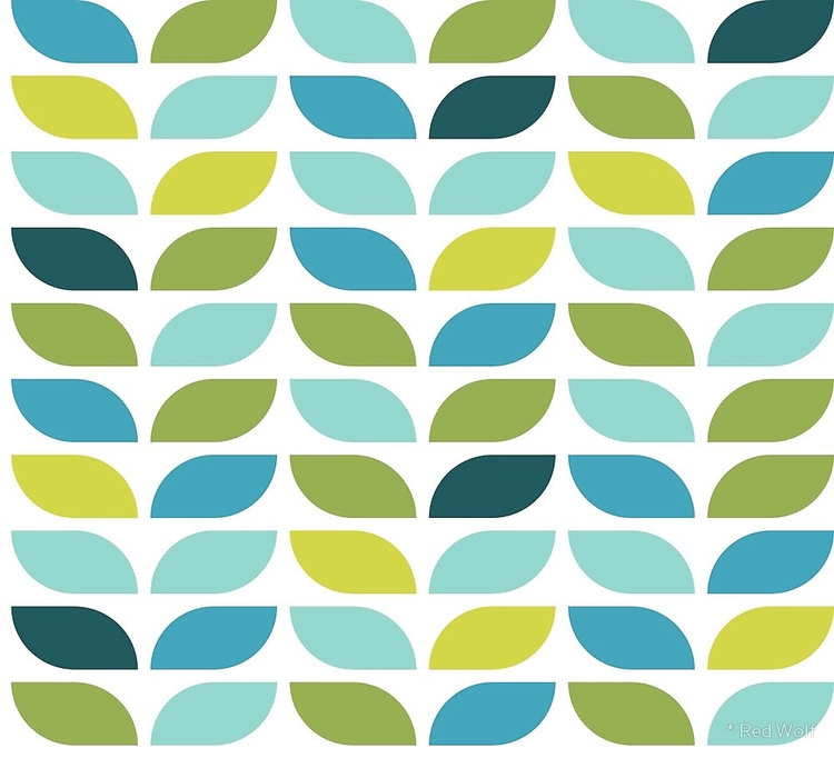 Geometric Pattern: Leaf: Spring - red_wolf | ello