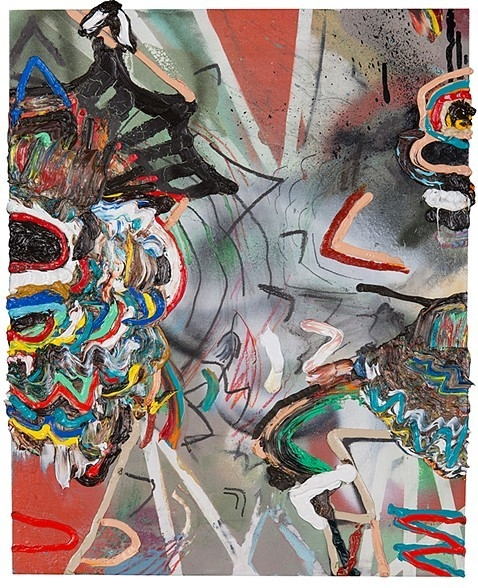 King oil, spray paint, graphite - earlmcbride | ello